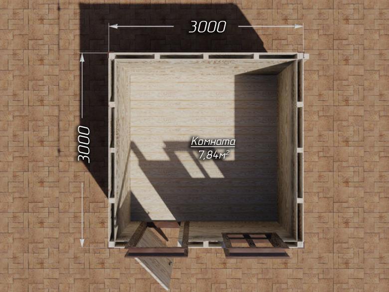 Сарай на сваях 3х3 двухскатная крыша