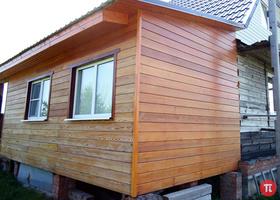 Жилая пристройка к деревянному дому