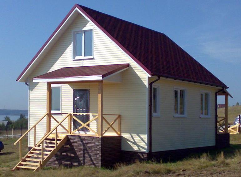 Каркасный дом на сваях 6х6