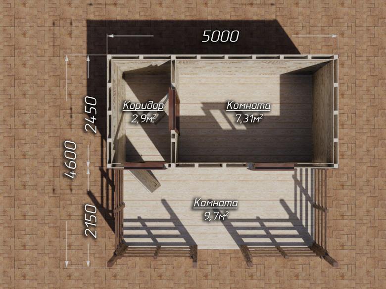 Хозблок с террасой 5х4.6