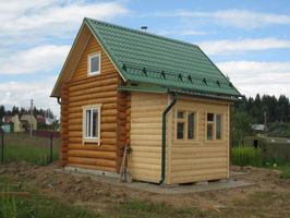 Пристройка к дому из бревна