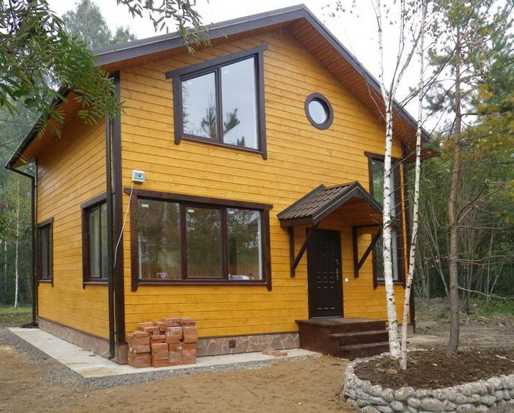 Каркасный дом на сваях 6х8