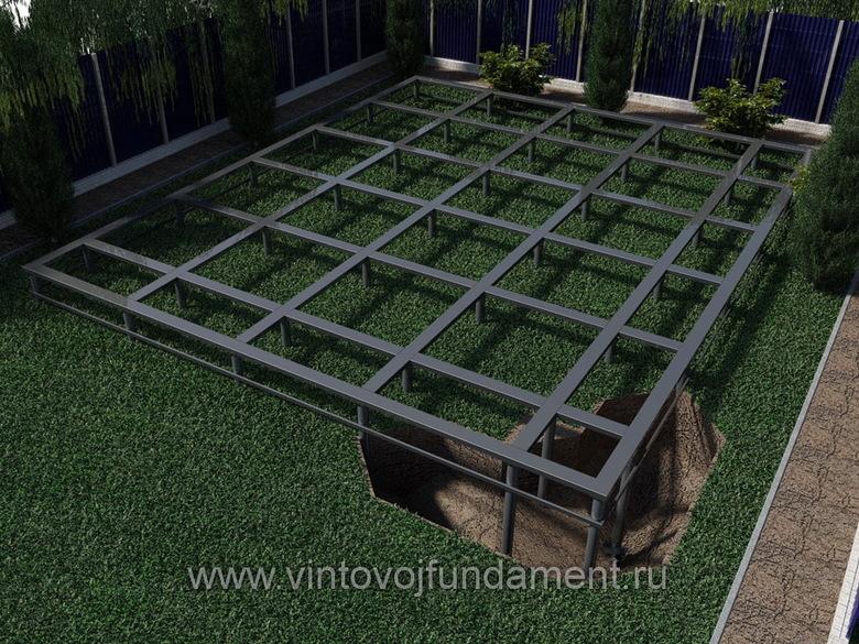 Винтовой фундамент 9х11
